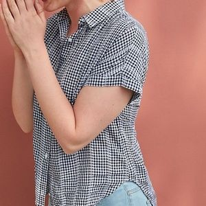 Cloth & Stone Gingham Button Down Size Large
